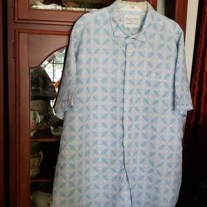 Classy HAWAIIAN Shirt xxl summer Blue white